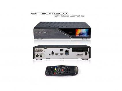 Dreambox DM 920 UHD (1x DVB-S2X FBC MS + 1x dual T2/C)  + Konfigurace linuxového přijímače ZDARMA !