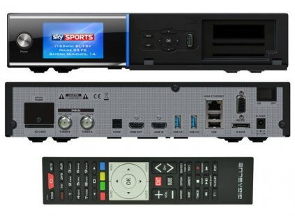 GigaBlue UHD Quad 4K (1x dual DVB-S2X FBC)  + Konfigurace linuxového přijímače ZDARMA !