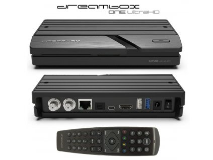 Dreambox ONE UHD (2x DVB-S2X Multistream)  + Konfigurace linuxového přijímače ZDARMA !