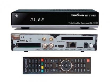 Zgemma H9 TWIN (2xDVB-S2X)  + Konfigurace linuxového přijímače ZDARMA !