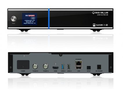 GigaBlue UHD UE 4K (1x dual DVB-S2 FBC)  + Konfigurace linuxového přijímače ZDARMA !