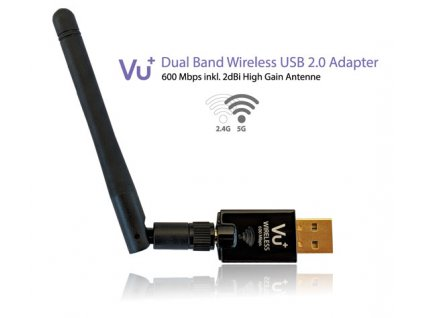 VU+ Wireless Dual Band USB adaptér 600 Mbps