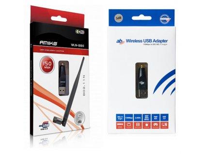 USB Wifi adaptér s 5dBi anténou - 150Mbps (Amiko/AB/Octagon)