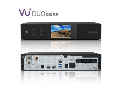 VU+ DUO 4K SE (1x dual FBC DVB-S2X + 1x dual DVB-T2 MTSIF)  + Konfigurace linuxového přijímače ZDARMA !