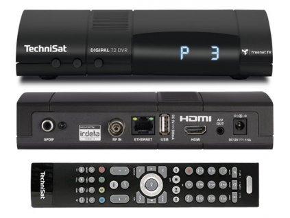 TechniSat DIGIPAL T2 DVR antracit - záruka 1 rok