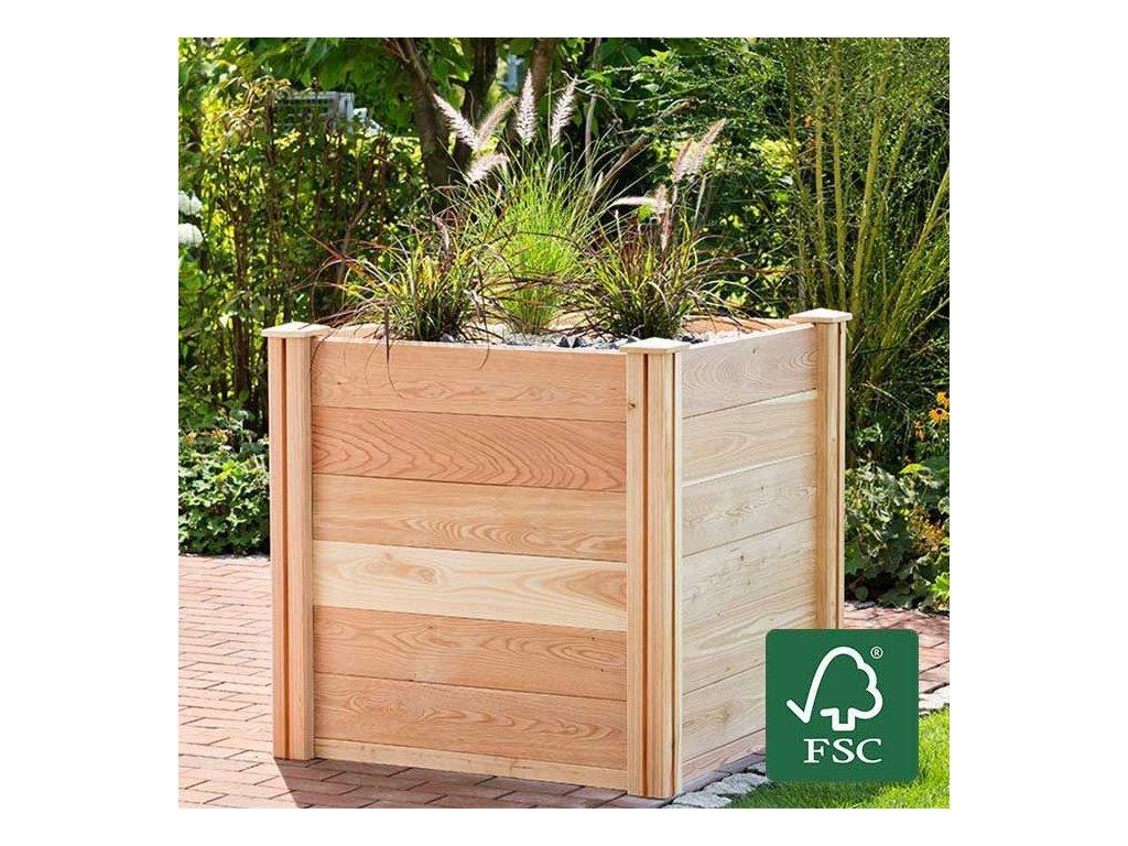 """Bio Green - vyvýšený záhon z modřínového dřeva """"PREMIUM XL"""""""