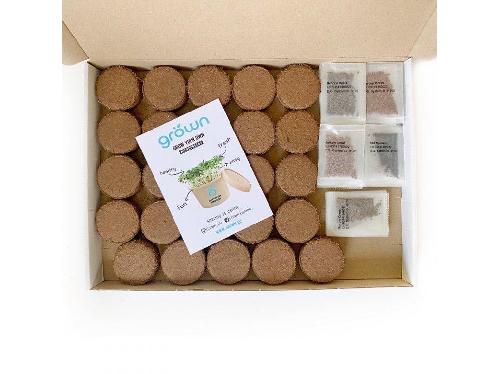 Mix Box  - sada pro pěstování microgreens