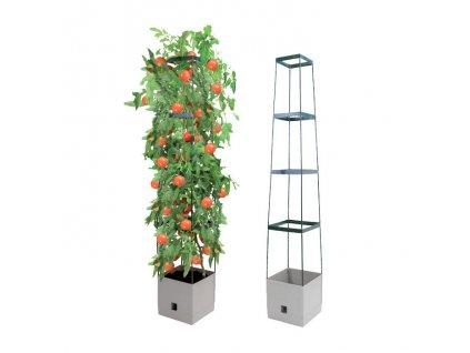 Bio Green - samozavlažovací květináč MAXITOM - antracitový