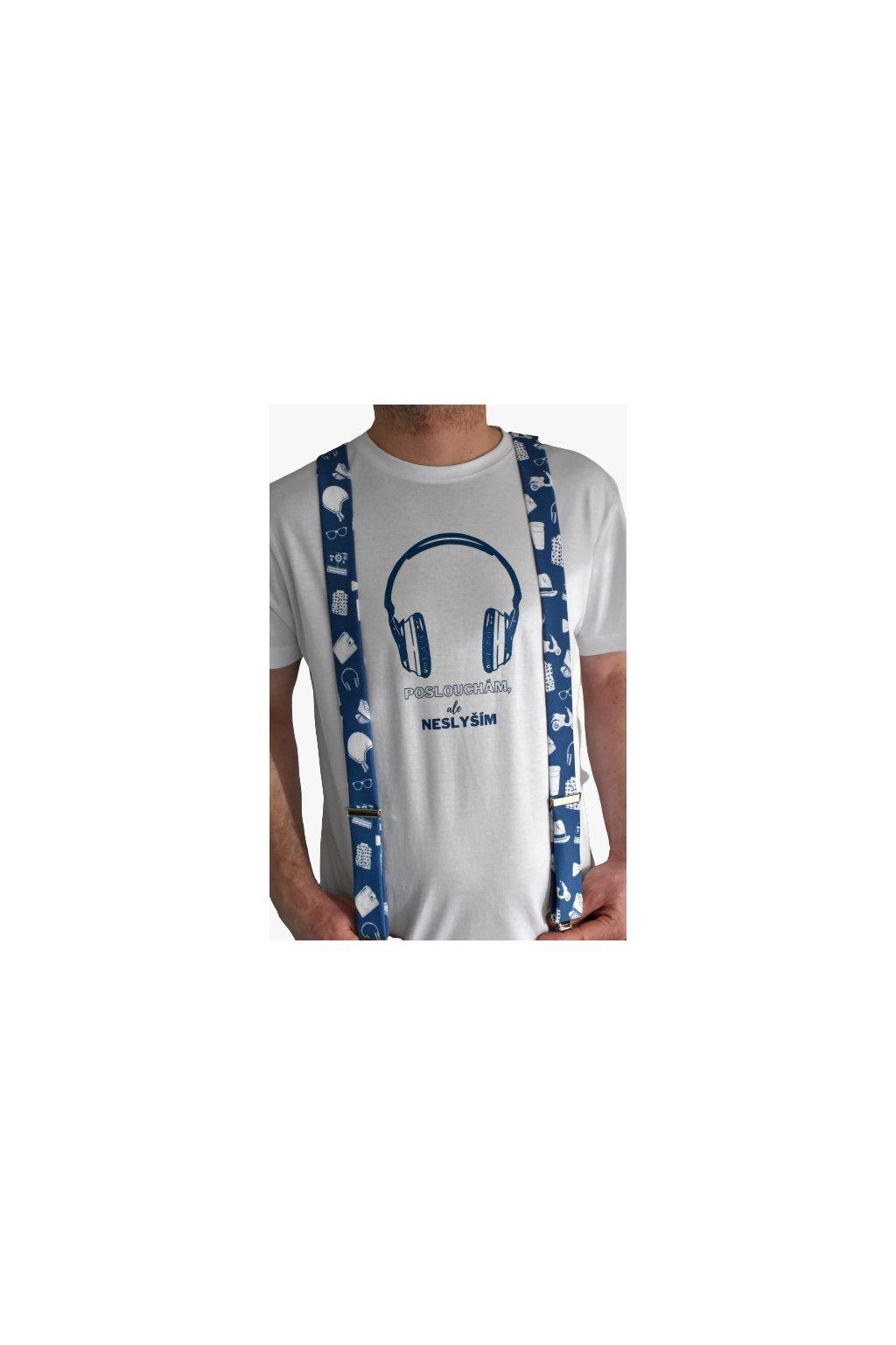 Tričko Hipster sluchátka