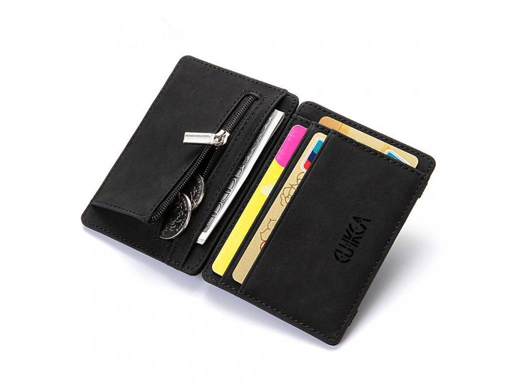 Skládací kožená peněženka