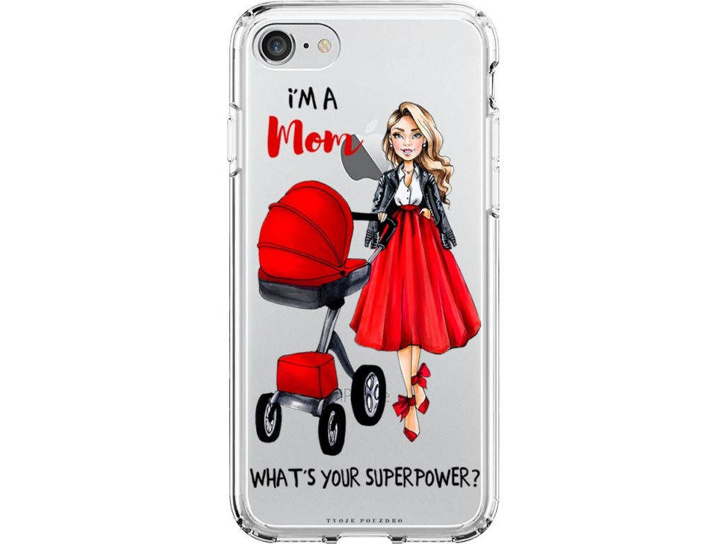 Obal na iPhone 8 moms power red blond