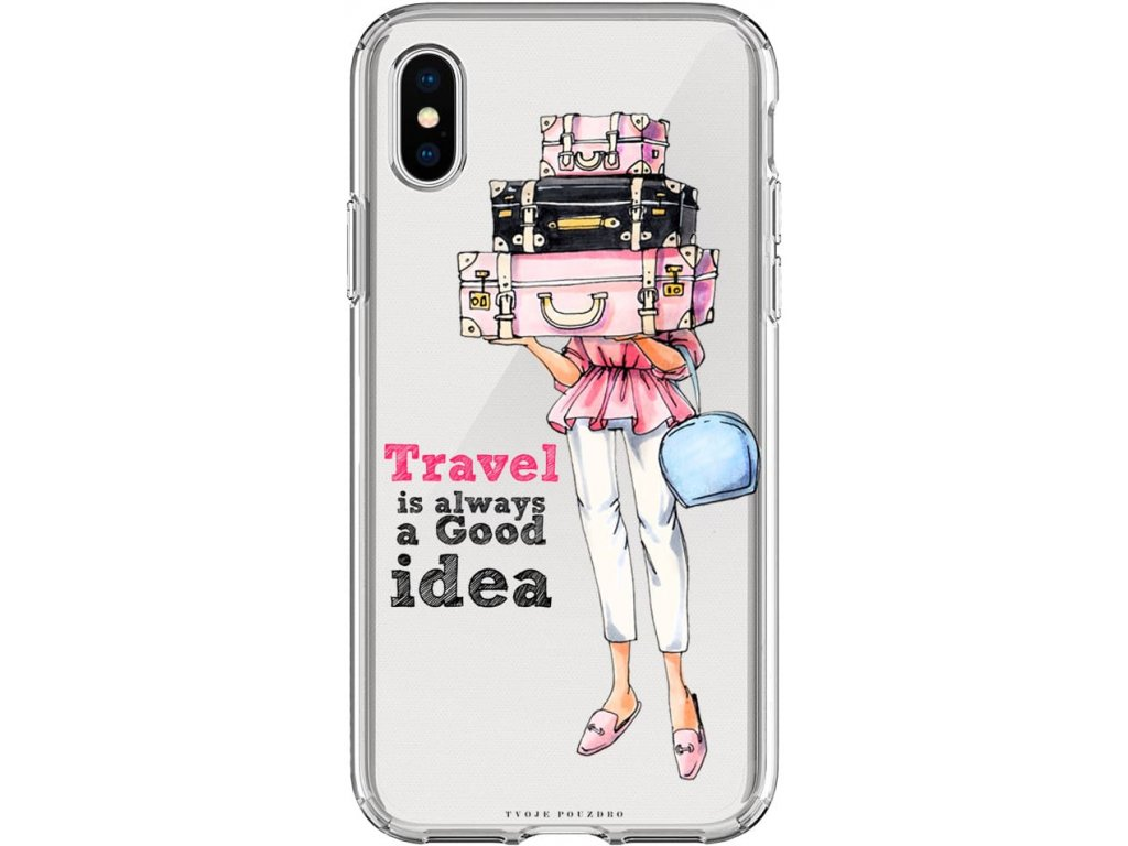 Pouzdro na iPhone X travel girl