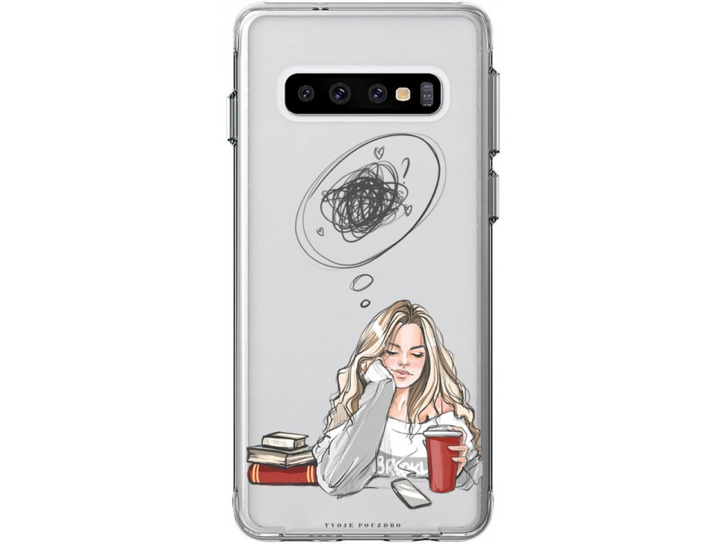 Obal na samsung s10 girl thinking girl blond