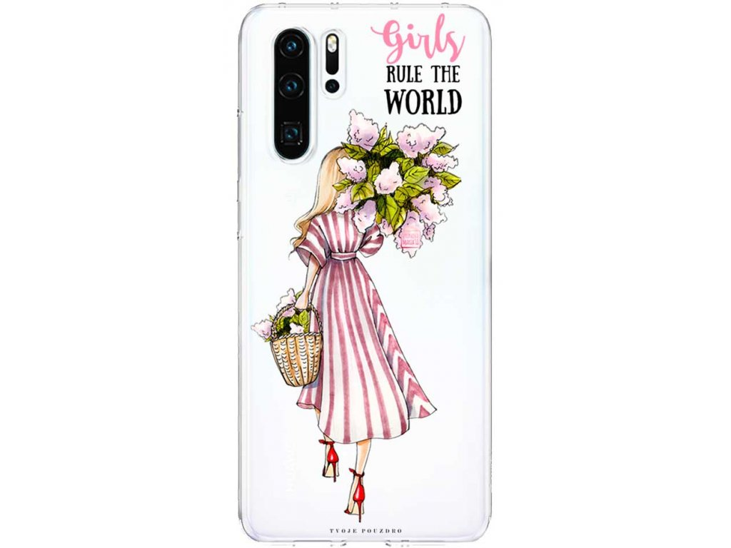 Kryt na Huawei P30 flover girl blond