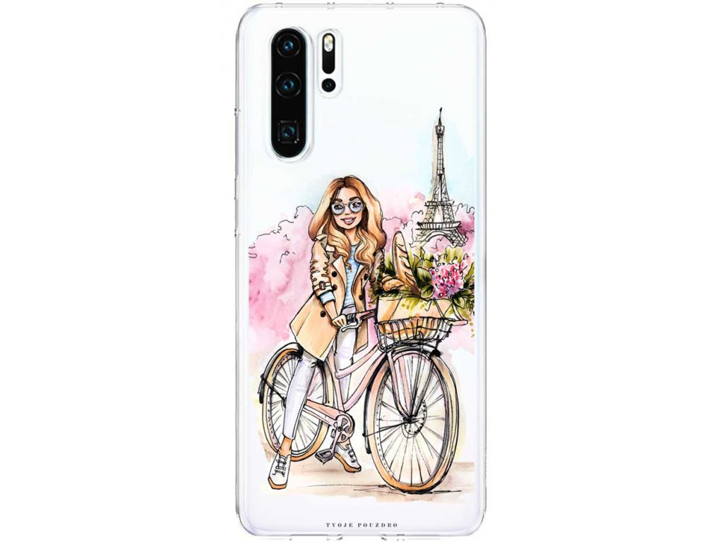 Kryt na Huawei P30 girl on bike blond