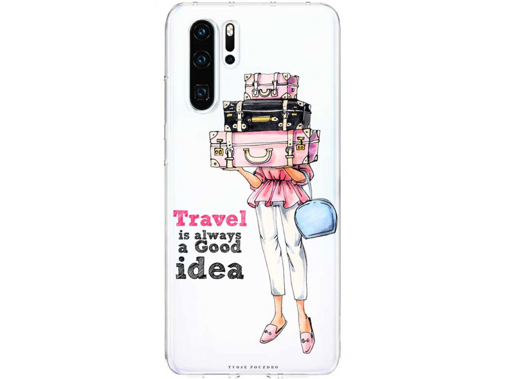 Kryt na Huawei P30 travel girl