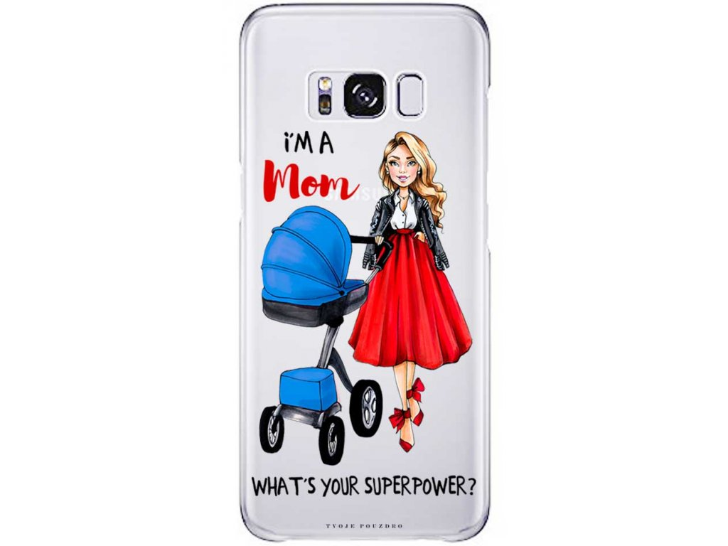 Pruzny kryt na Samsung S8 moms power blue blond