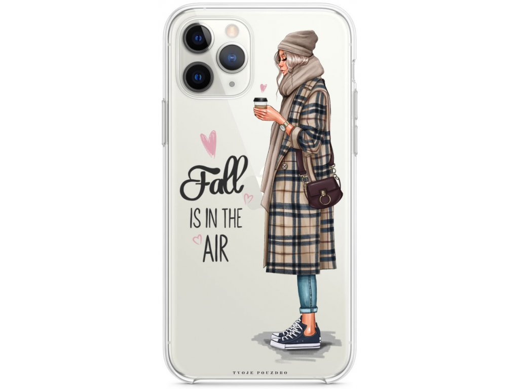 silikonove pouzdro pro iphone 11pro fall in air blond