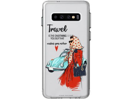 Pruzny kryt na Samsung S10 travel girl