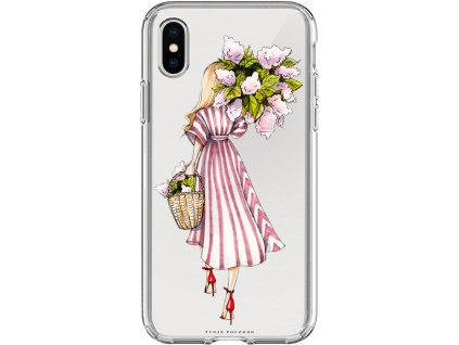 Pouzdro na iPhone X pink girl blond
