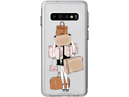 Obal na Samsung S10 Travel girl