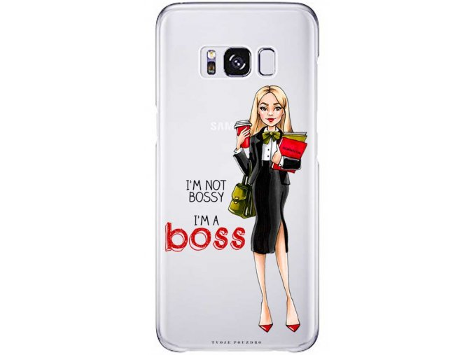 Kryt na Samsung S8 Girl boss blond