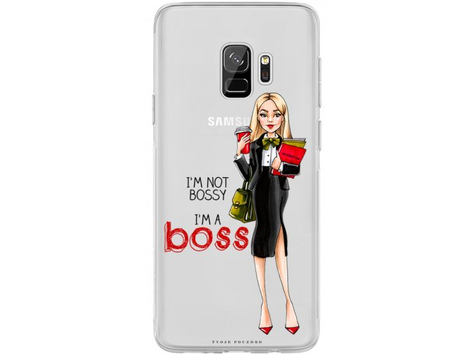 Obal na Samsung s9 Girl boss blond