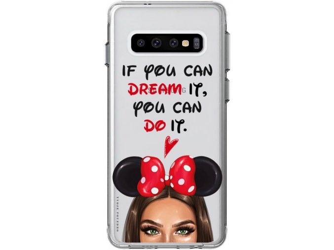 Kryt na Samsung S10 disney girl green