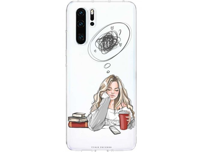 Kryt na Huawei P30 thinking girl blond