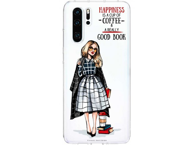 Kryt na Huawei P30 happiness girl blond