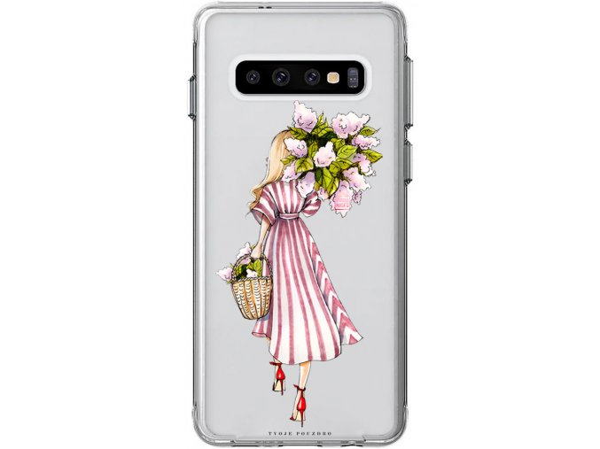 Obal na samsung s10 flower girl blond