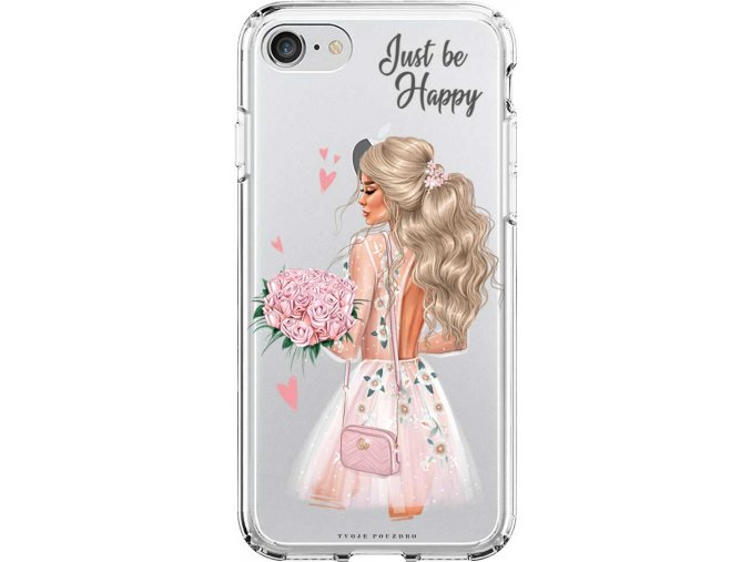 Obal na iPhone 7 happy girl blond