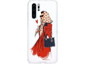 Pruzny kryt na Huawei P30 fashion girl