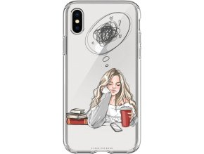 Pouzdro na iPhone X sleep think girl blond