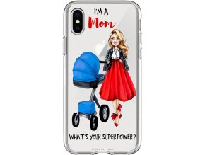 Pružný kryt na iPhone X Mom's power blond/bruneta