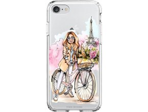 Obal na iPhone 8 Girl on bike blond