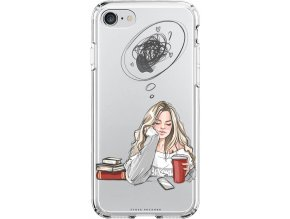 Obal na iPhone 8 Thinking girl blond
