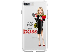 Pouzdro na iPhone 8 Plus Girl boss blond