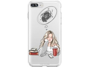 Pouzdro na iPhone 8 Plus thinking girl blond