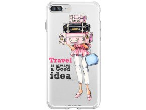 Pouzdro na iPhone 8 Plus travel girl