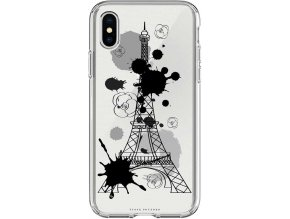Pruzny Kryt na iPhone XS Love Paris