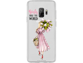 Obal na Samsung s9 flower girl blond