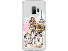 Obal na Samsung s9 Girl on bike blond