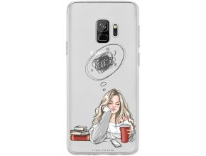 Obal na Samsung s9 thinking girl blond