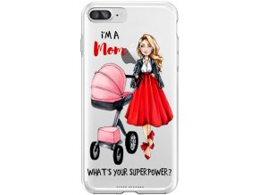 Obal na iPhone 8 plus Moms power pink blondyna