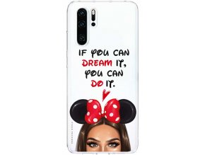 Pruzny kryt na Huawei P30 disney girl brown