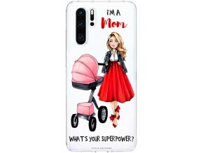 Pruzny kryt na huawei p30 moms power pink blond