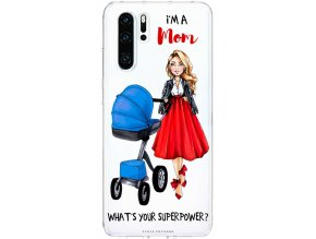Pruzny kryt na huawei p30 moms power blue blond