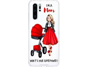 Pruzny kryt na huawei p30 moms power red blond