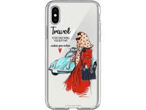 Pruzny kryt na iphone xs travel girl